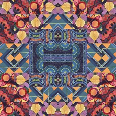 The Joy Of Design Mandala Series Puzzle 5 Arrangement 7 Poster by Helena Tiainen