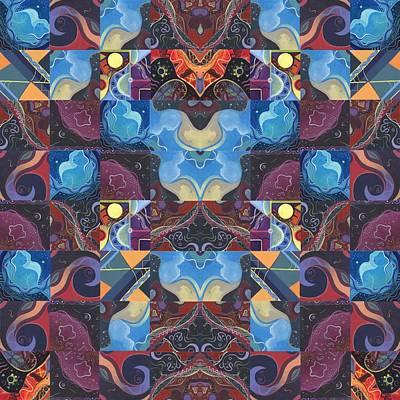 The Joy Of Design Mandala Series Puzzle 6 Arrangement 1 Poster by Helena Tiainen
