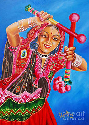 Poster featuring the painting The Joy Of Life by Ragunath Venkatraman