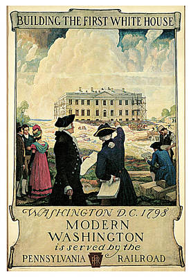 The Keystone Pennsylvania Railroad Poster by N C Wyeth