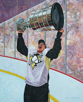 The Kid And The Cup Poster by Allan OMarra