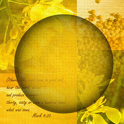 The Kingdom Of God Is Like A Mustard Seed Poster by Ruth Palmer
