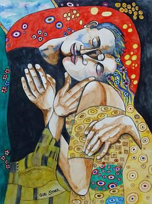 The Kiss - Tribute To Gustav Klimt Poster