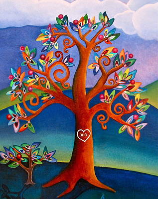 Poster featuring the painting The Kissing Tree by Lori Miller