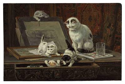 The Kitten Art Lesson Poster