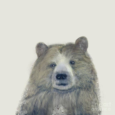 Poster featuring the painting The Kodiak Bear by Bri B
