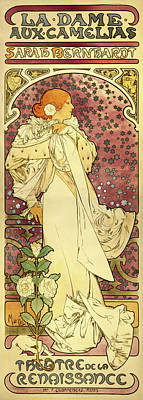 The Lady Of The Camellias Poster by Alphonse Mucha