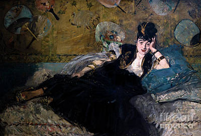 The Lady With Fans, La Dame Aux Eventails, By Edouard Manet, 187 Poster by Peter Barritt