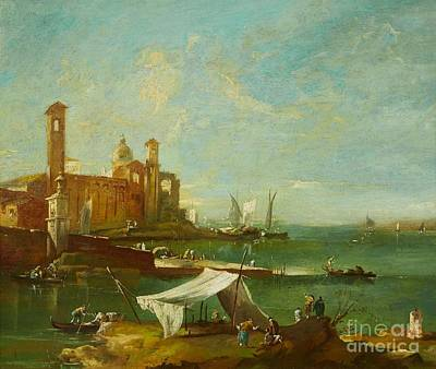 The Lagoon Of Venice Poster by MotionAge Designs