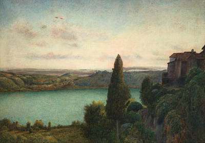 The Lake Of Nemi Poster by Marie Spartali Stillman