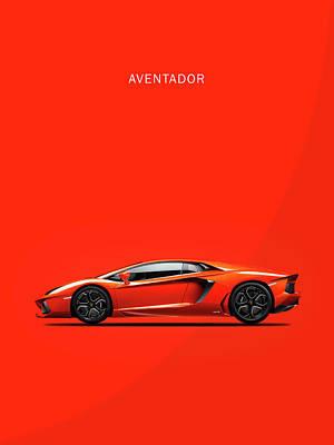 The Lamborghini Aventador Poster