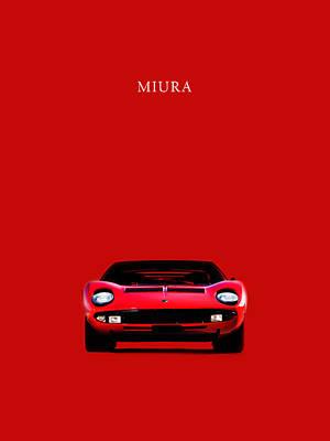 The Lamborghini Miura Poster
