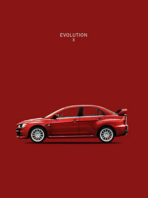 The Lancer Evolution X Poster by Mark Rogan