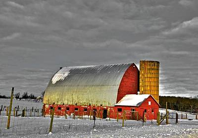 The Last Barn Poster by Robert Pearson