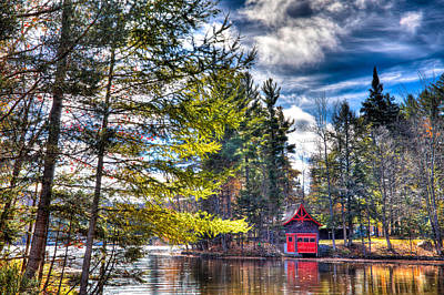 The Last Days Of Autumn At The Boathouse Poster