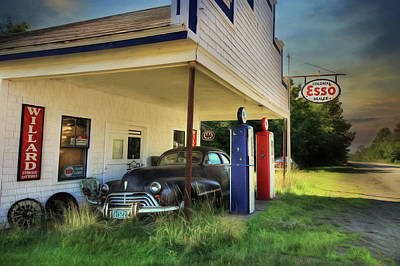 The Last Fill Up Poster by Lori Deiter