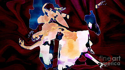 The Last Tango - Abstract Poster by Ian Gledhill