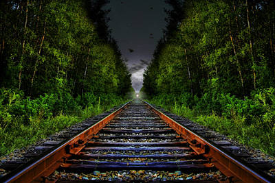 Poster featuring the photograph The Last Train Ride by Gary Smith