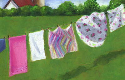 The Laundry On The Line Poster by Joyce Geleynse