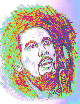 The Legendary Bob Marley Poster by Collin A Clarke