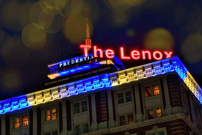Poster featuring the photograph The Lenox And The Pru - Boston Marathon Colors by Joann Vitali