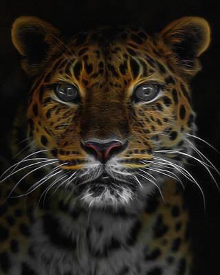 The Leopard Digital Art Poster
