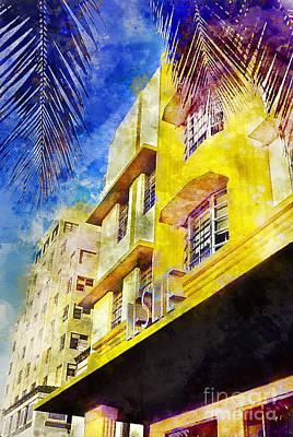 The Leslie Hotel South Beach Poster by Jon Neidert