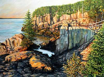 The Light Dawns On West Quoddy Head Poster