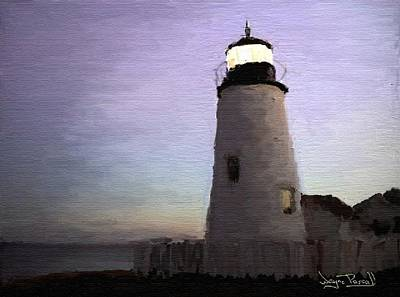 Poster featuring the painting The Lighthouse by Wayne Pascall
