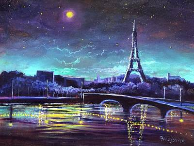 The Lights Of Paris Poster by Randy Burns
