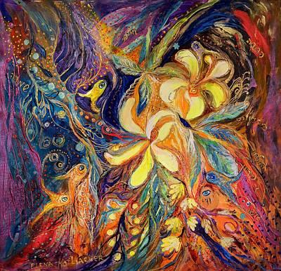 The Lilies Of Galilee Poster by Elena Kotliarker
