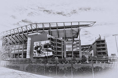 The Linc - Philadelphia Eagles Poster by Bill Cannon