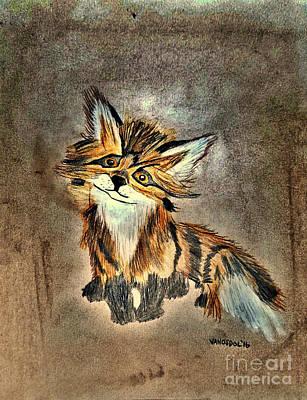 The Little Fox - Abstract Poster by Scott D Van Osdol
