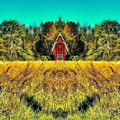 The Little House In The Field Poster by Scott D Van Osdol