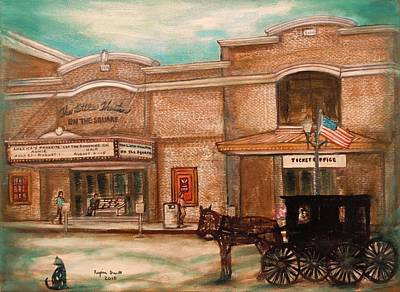 The Little Theatre Poster by Regina Brandt