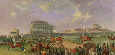 The Liverpool Steeplechase At Aintree Poster
