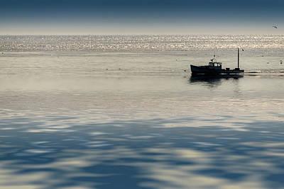 The Lobster Boat Poster by Rick Berk