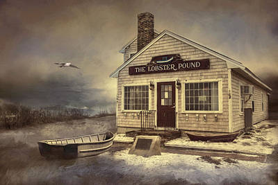 Poster featuring the photograph The Lobster Pound by Robin-Lee Vieira