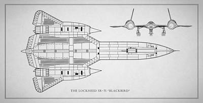 The Lockheed Sr-71 Blackbird Poster by Mark Rogan