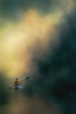 The Lone Canoe Poster by Jai Johnson