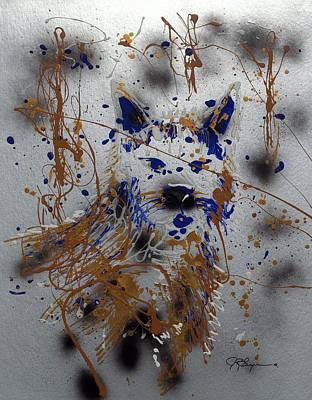 Poster featuring the mixed media The Lone Wolf  Canis Lupus by J R Seymour