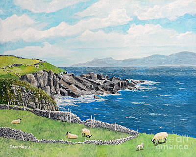 The Lonely Cliffs Of Dingle, Ireland Poster by Dan O'Neill