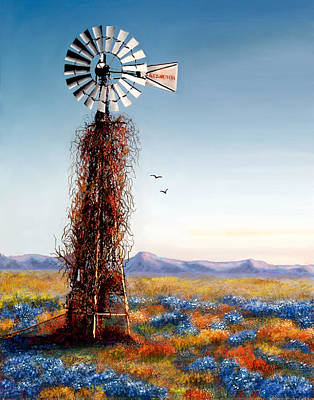 The Lonely Windmill Poster by Sena Wilson