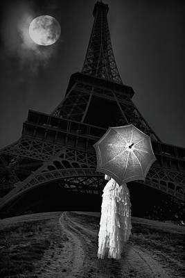 The Long Way To Paris Bw Poster