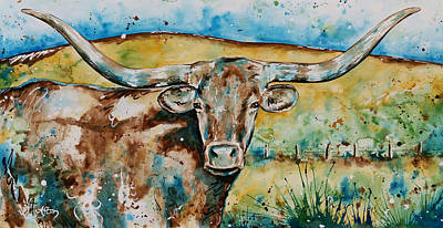 The Longhorn  Poster by Afton Ray-Rossol
