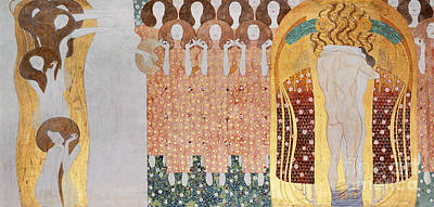 The Longing For Happiness Poster by Gustav Klimt