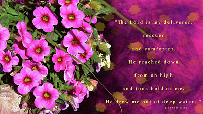 The Lord Is My Deliverer Poster by Susan Hammons