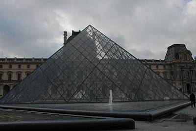 Poster featuring the photograph The Louvre And I.m. Pei by Christopher Kirby