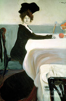 The Luncheon Poster by Leon Bakst