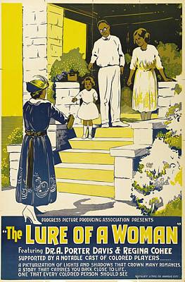 The Lure Of A Woman 1921 Poster by Mountain Dreams